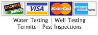Pest and Termite Inspections Credit Cards Accepted